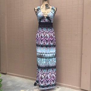 Sz 6 Connected Apparel Maxi Dress EUC